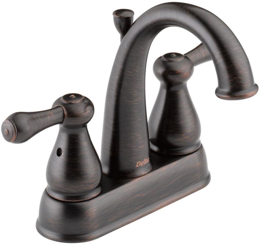 Bathroom Sink Faucet with Two Lever Handle - Leland, Venetian Bronze, Deck Mount, 1.5 GPM