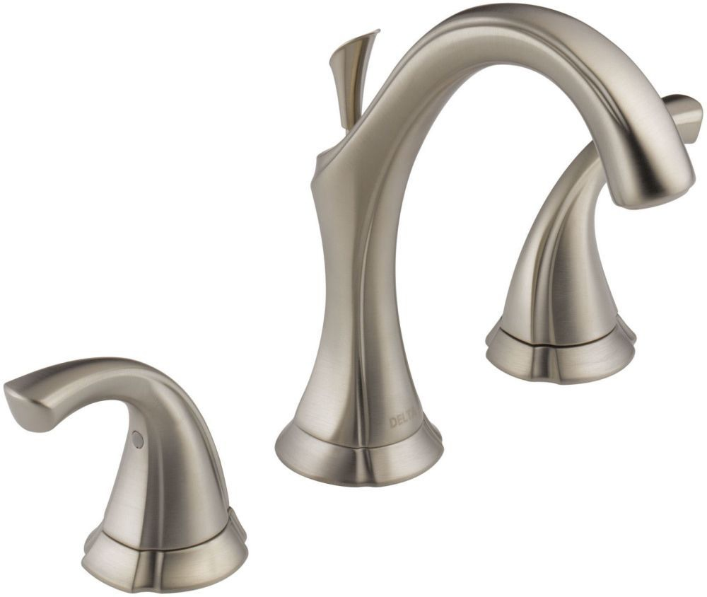 Addison Bathroom Sink Faucet with Two 1/4 Turn Handle and Metal Pop-Up - Brilliance Stainless, 1.2 GPM