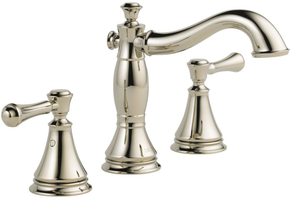 Cassidy Bathroom Sink Faucet with Two 1/4 Turn Handle and Metal Pop-Up - Brilliance Polished Nickel, 1.2 GPM