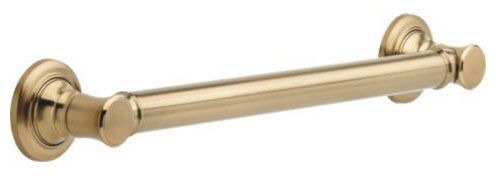 "18"" Straight Round Grab Bar - Traditional Decorative, Brilliance Champagne Bronze"