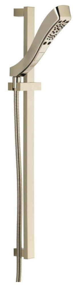 H2Okinetic 4-Setting Slide Bar Hand Shower Polished Nickel