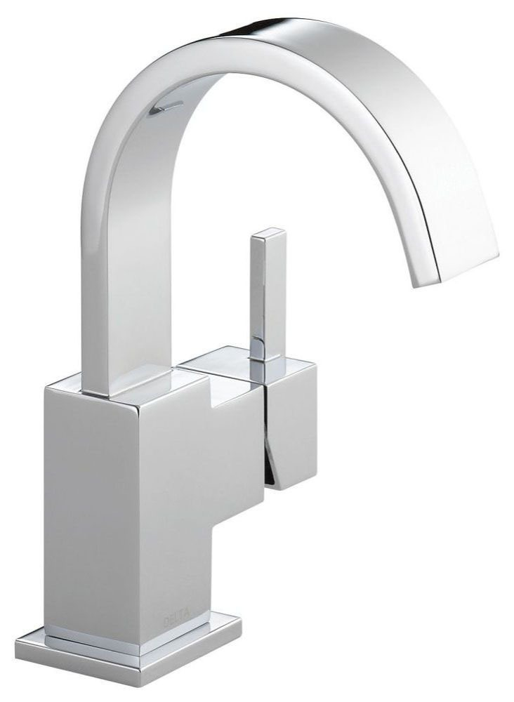 Vero Deck Mount Bathroom Sink Faucet - Single Handle, Metal Push Pop-Up, With Escutcheon, Chrome Plated, 1.2 GPM