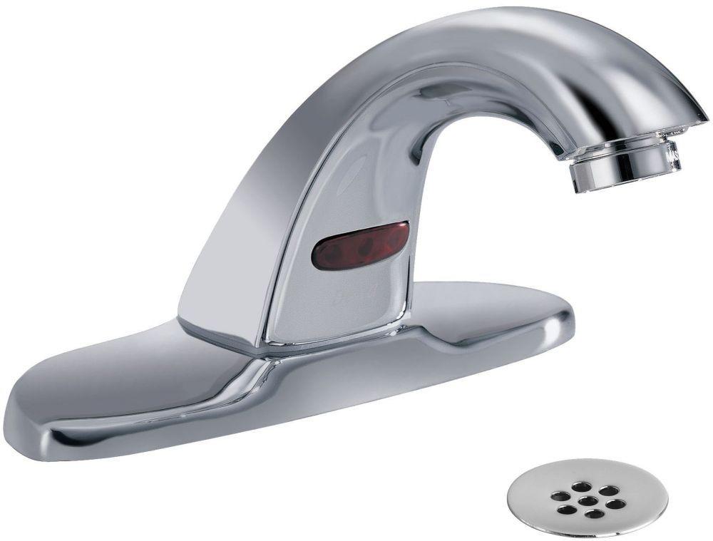 """Deck Mount Electronic Faucet 4"""" Faucet Hole Center Chrome Plated"""