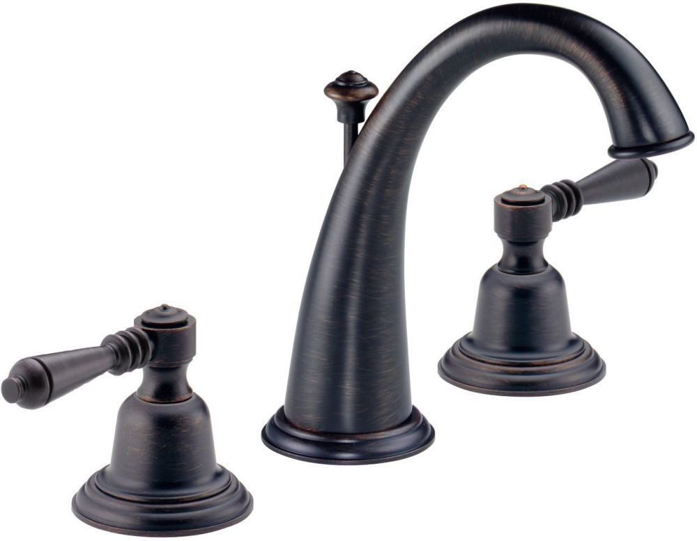Brizo Providence Bathroom Sink Faucet with Metal Pop-Up Less Handle - Venetian Bronze, 1.5 GPM
