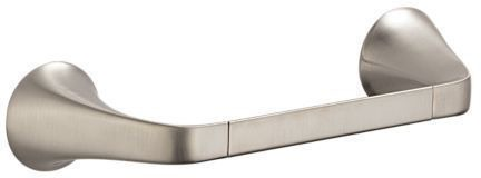 "8"" Single Rectangular Towel Bar - Sotria, Brilliance Luxe Nickel"