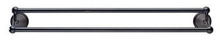 "24"" Double Round Towel Bar - Traditional, Venetian Bronze"
