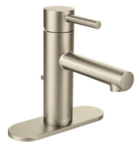 Bathroom Sink Faucet with High-Arc Spout & Single Lever Handle - Align, Brushed Nickel, Deck Mount, 1.2 GPM / 1.5 GPM