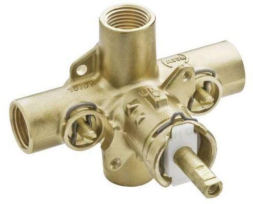 "1/2"" Pressure Balancing Tub and Shower Valve - M-Pact / Posi-Temp, NPT, 1.5 GPM, Brass, 4-Port"