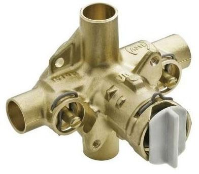 "1/2"" Pressure Balancing Tub and Shower Valve - M-Pact / Posi-Temp, CC, Brass, 4-Port"
