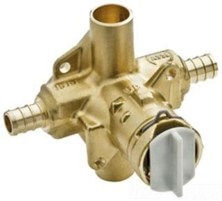 Crimp Ring PEX Pressure Balancing Cycling Tub and Shower Valve, Brass