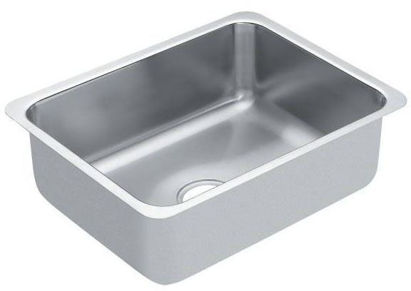 """23"""" x 18"""" x 5.5"""" Undermount Single Bowl Kitchen Sink - Brushed, Stainless Steel"""