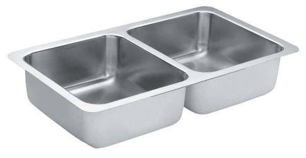 "1800 Series 31.25""X18"" Stainless Steel 18 Gauge Double Bowl Sink"