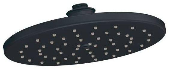 "Waterhill Wrought Iron One-Function 10"" Diameter Spray Head Rainshower Showerhead"