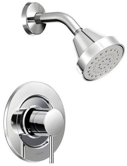Shower Trim with Single Lever Handle - Align / Posi-Temp, Chrome Plated, Wall Mount, 1.75 GPM