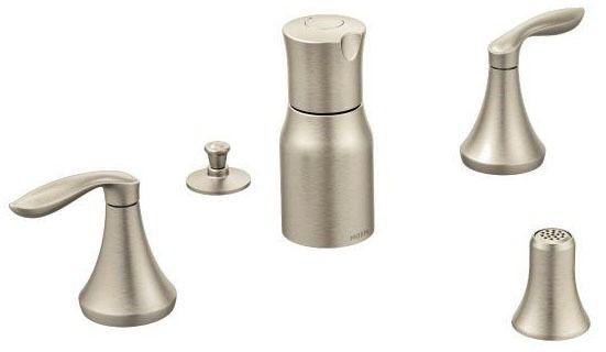 Eva Brushed Nickel Two-Handle Bidet Faucet