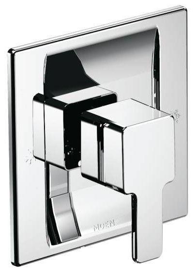 1-Lever Handle Tub and Shower Valve Trim - 90 Degree / Posi-Temp, Chrome Plated, Metal