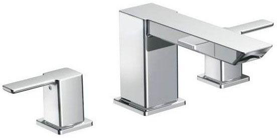 Chrome Two-Handle Roman Tub Faucet
