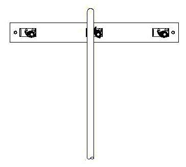 "3"" x 24"" Service Sink Faucet Mop Hanger - Stainless Steel"