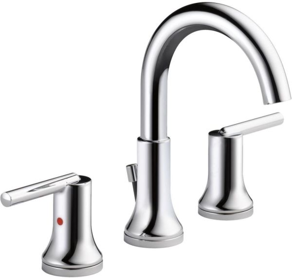 Trinsic Bathroom Sink Faucet with Two 1/4 Turn Handle and Metal Push Pop-Up - Chrome Plated, 1.2 GPM