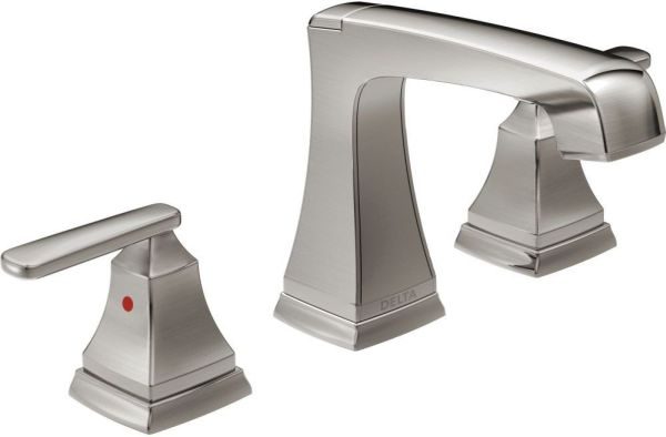 Ashlyn Bathroom Sink Faucet with Two Handle - Brilliance Stainless, 1.2 GPM