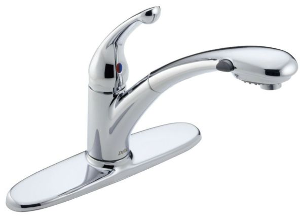 Signature Pull-Out Water-Efficient Kitchen Faucet with Single Lever Handle - Chrome Plated, 1.5 GPM