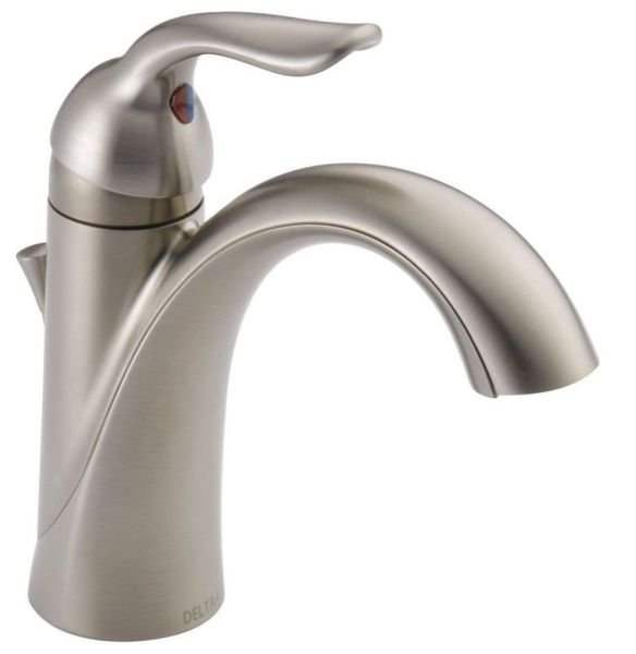 Lahara Bathroom Sink Faucet with Single Handle and Metal Pop-UP - Brilliance Stainless, 1.2 GPM