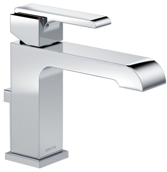 Bathroom Sink Faucet with Rigid Spout & Single Lever Handle - Ara, Chrome Plated, Deck Mount, 1.5 GPM