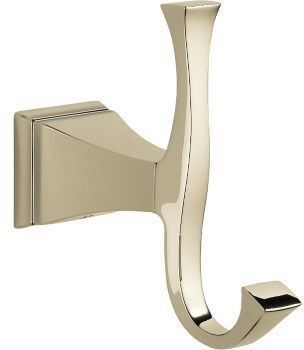 Dryden Wall Mount Double Robe Hook - Brilliance Polished Nickel