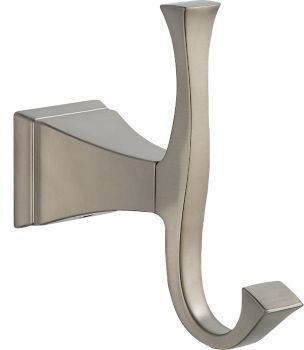 Dryden Wall Mount Double Robe Hook - Brilliance Stainless