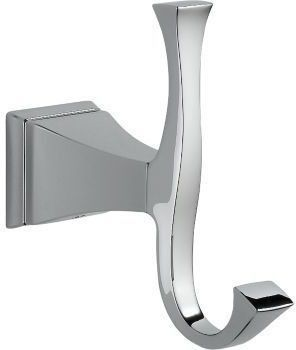 Dryden Wall Mount Double Robe Hook - Chrome Plated