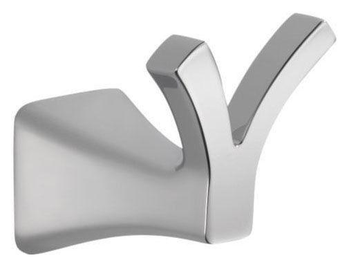 Tesla Wall Mount Double Robe Hook - Chrome Plated