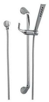 """1/2""""-14 NPSM Hand Shower - Sotria, 2"""" Face, Polished Chrome, 1-Way, 2 GPM at 80 psi"""