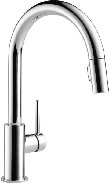 Trinsic High-Arc Pull-Down Kitchen Faucet with Single Lever Handle - Chrome Plated, 1.8 GPM