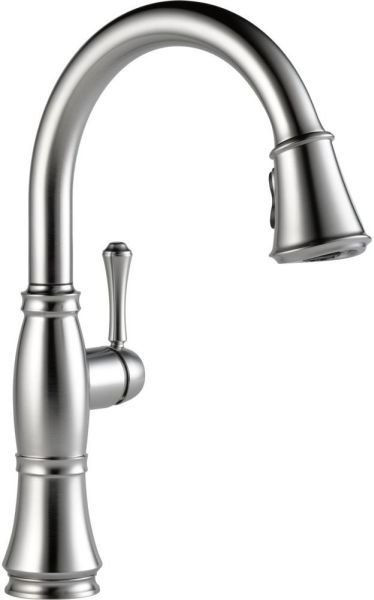 Cassidy High-Arc Pull-Down Kitchen Faucet with Single Lever Handle - Arctic Stainless, 1.8 GPM