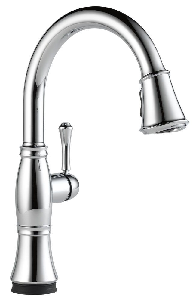 Cassidy High-Arc Pull-Down Kitchen Faucet with Single Handle - Chrome Plated, 1.8 GPM
