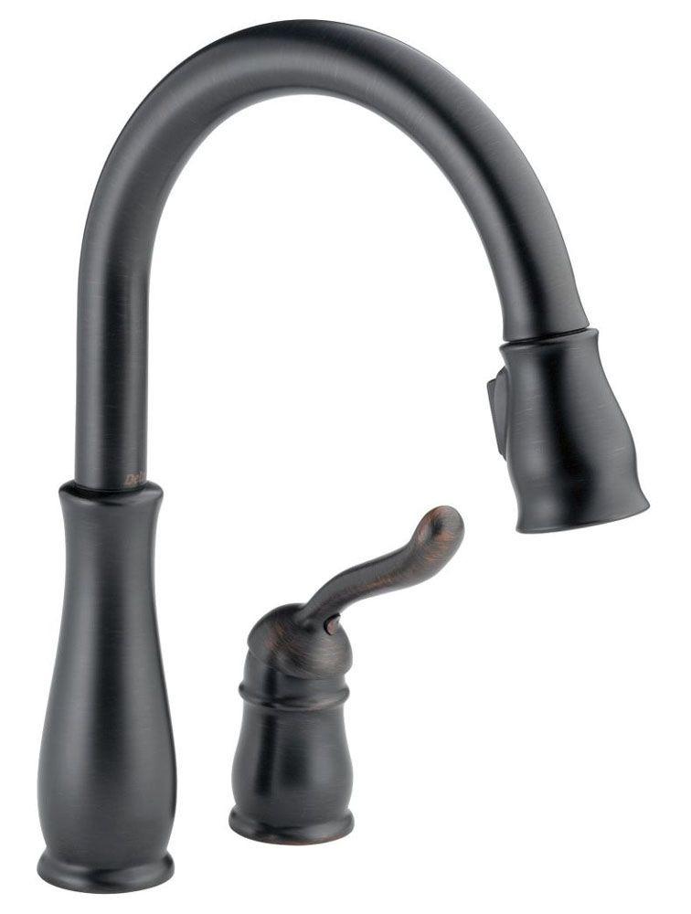 Kitchen Faucet with High-Arc Spout & Single Lever Handle - Leland, Venetian Bronze, Deck Mount, 1.8 GPM