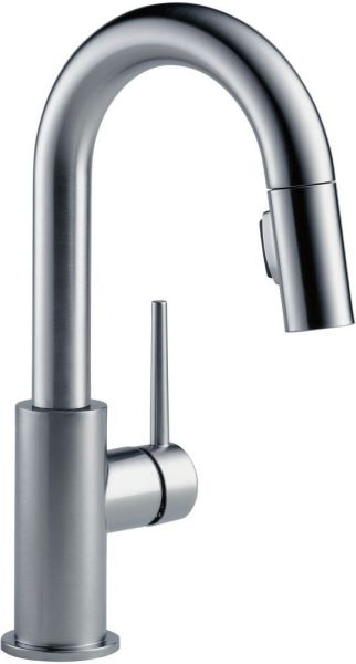 Trinsic Single Handle Pull-Down Bar / Prep Faucet Arctic Stainless