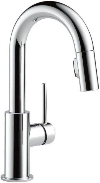 Trinsic Single Handle Pull-Down Bar / Prep Faucet Chrome