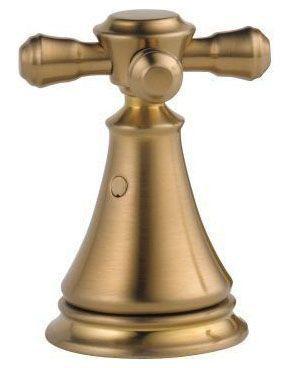 Cassidy Metal Cross Bathroom Sink Faucet Handle Kit - Brilliance Champagne Bronze