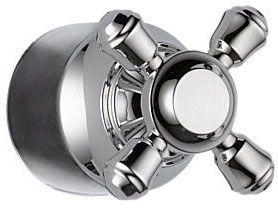 Cassidy Metal Cross Shower Diverter Handle Kit - Chrome Plated, Zinc