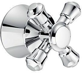 Cassidy Metal Cross Tub and Shower Faucet Handle Kit - Chrome Plated