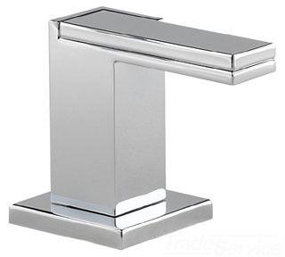 Polished Chrome Metal 1/4 Turn Lever Bathroom Sink Faucet Handle Kit - Siderna