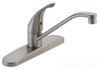 Kitchen Faucet with 360D Swing Spout & Single Lever Handle - CORE, Stainless Steel, Deck Mount, 1.8 GPM