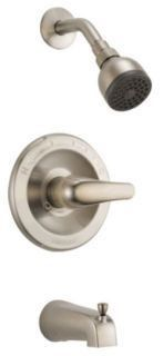 Tub and Shower Trim with Slip-On Spout & Single Lever Handle - Brushed Nickel, Wall Mount, 1.5 GPM