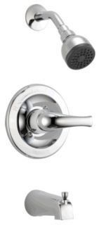 Tub and Shower Trim with Slip-On Spout & Single Lever Handle - MultiChoice, Chrome Plated, Wall Mount, 1.5 GPM