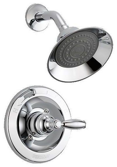 Shower Trim with Single Lever Handle - APEX, Chrome Plated, Wall Mount, 2 GPM