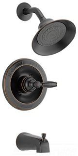 Tub and Shower Trim with Slip-On Spout & Single Lever Handle - MultiChoice, Oil Rubbed Bronze, Wall Mount, 2 GPM