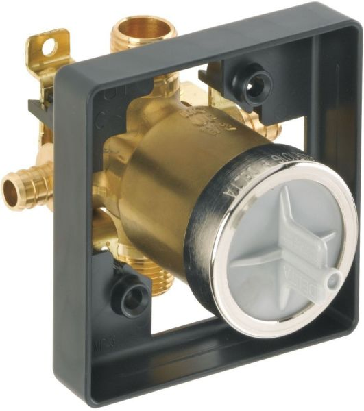"1/2"" Tub and Shower Rough Valve Body - MultiChoice, PEX Crimp, Forged Brass"