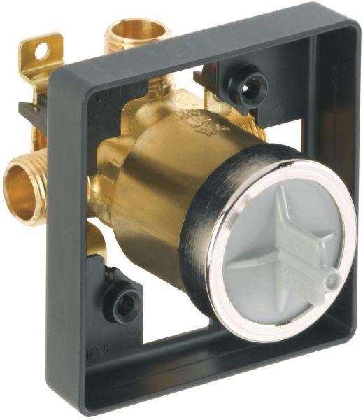 "1/2"" Shower Rough Valve Body - MultiChoice, MPT / CWT C, 7.7 GPM at 80 psi, Forged Brass"