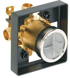 "1/2"" Tub and Shower Rough Valve Body - MultiChoice, MPT / CWT C, 9 GPM at 80 psi, Forged Brass"